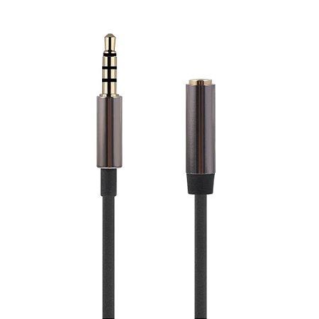 Cabo Extensor P3 P3 3,5mm 4 Vias Headset Celular