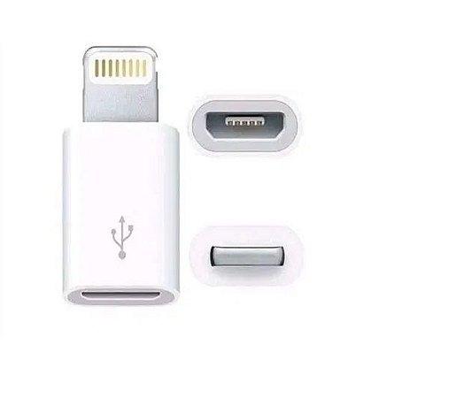 Adaptador Micro USB para Lightning para iPhone iPad AirPods