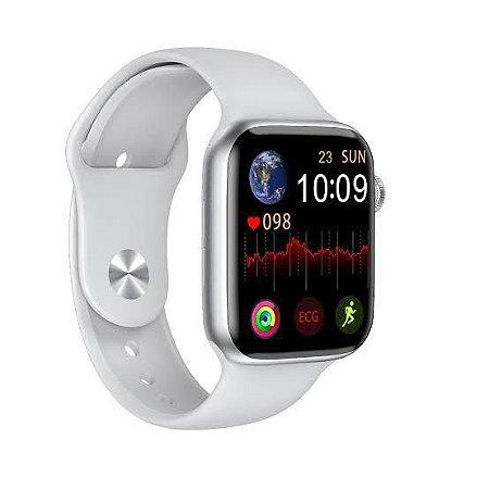 Smartwatch W26 Lite Branco Troca Pulseira Faz Ligação Tela Infinita