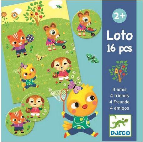 Jogo Loto Djeco - 16 peças
