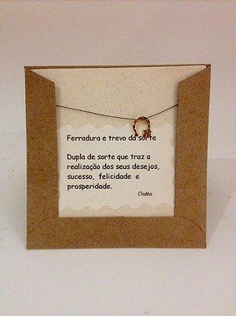 PINGENTE - FERRADURA E TREVO DA SORTE