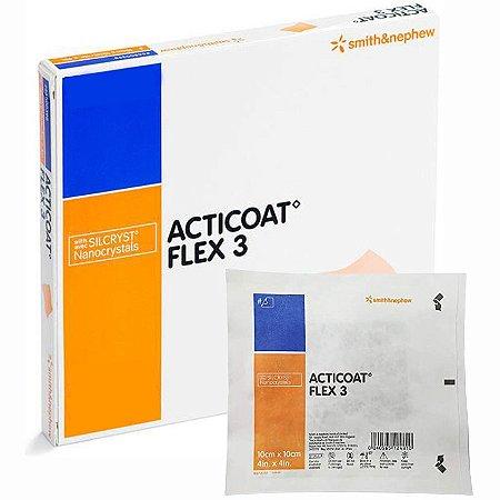 Curativo Acticoat Flex 3 com Prata 10cm X 10cm Smith & Nephew - 1 Unidade