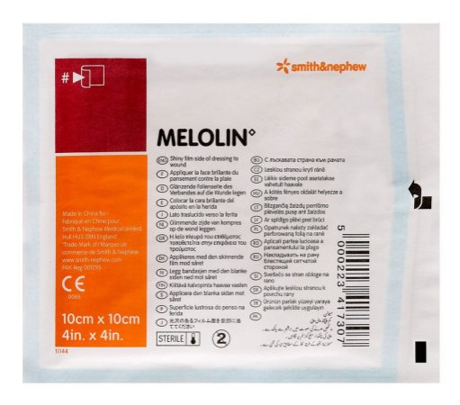 Curativo Não Aderente Melolin 10cm x 10cm - Smith & Nephew