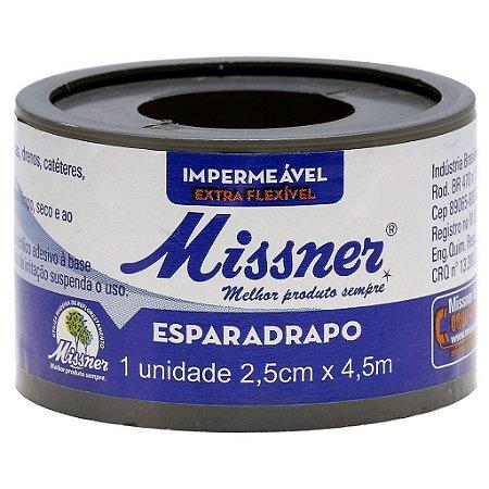 Esparadrapo Branco 2,5cm x 4,5m - Missner