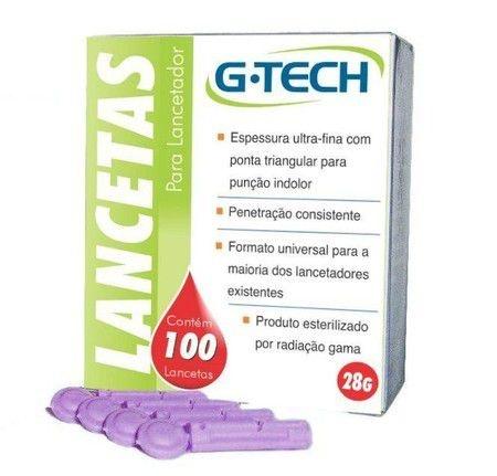 Lanceta para Lancetador 28g (100UN) - G-Tech
