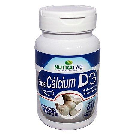 Suplemento de Cálcio + Vitamina D3 500mg (60caps) - Nutralab