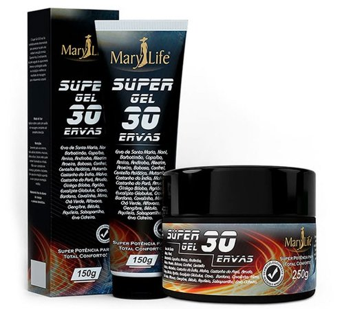Gel Massageador 30 Ervas 150g - Mary Life
