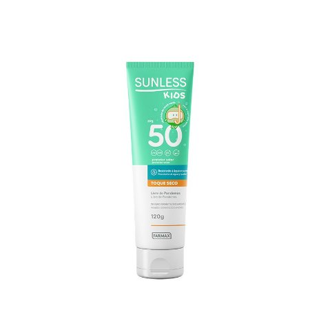 Protetor Solar Sunless Kids FPS 50 (120g) - Farmax