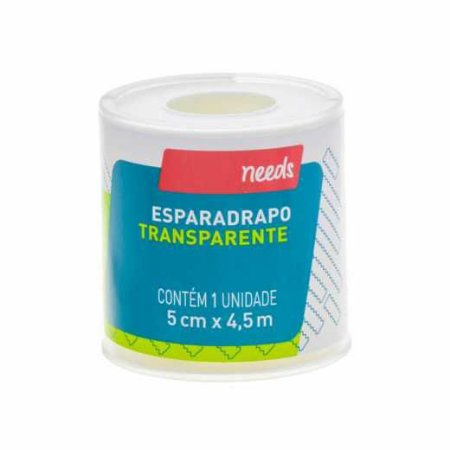 Esparadrapo Fita Transparente 5cm x 4,5m - Needs