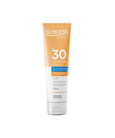 Protetor Solar + Repelente Sunless FPS 30 (120g) - Farmax