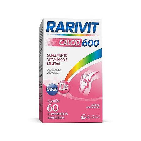 Suplemento Rarivit Cálcio 600mg (60caps) - Globo