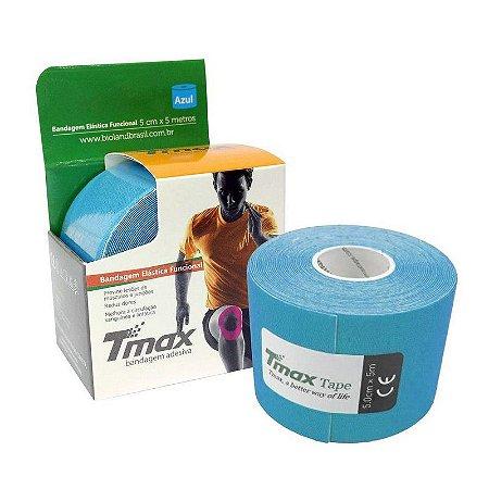 Fita Kinesio Bandagem Adesiva Tmax - Azul