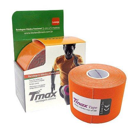 Fita Kinesio Bandagem Adesiva Tmax - Laranja