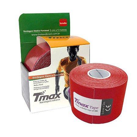 Fita Kinesio Bandagem Adesiva Tmax - Vermelho