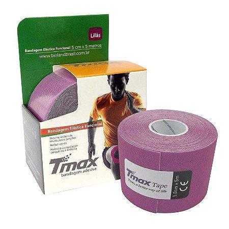 Fita Kinesio Bandagem Adesiva Tmax - Lilás