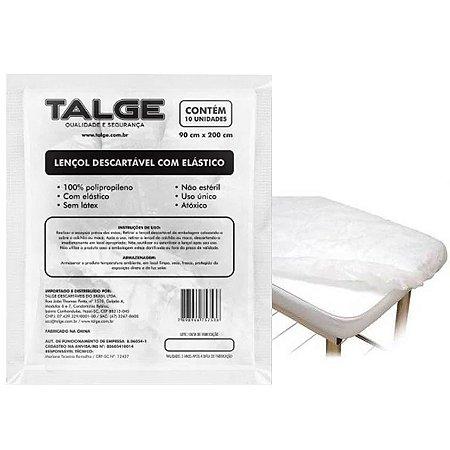Lençol Descartável TNT Com Elástico Para Maca 90cm X 2m (10UN) - Talge