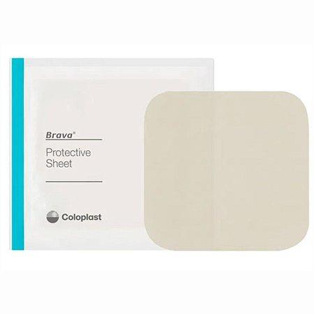 Brava Placa Protetora para Ostomia 10cm x 10cm Coloplast - 1 Unidade