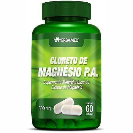Cloreto de Magnésio P.A 500mg 60 Cápsulas - Herbamed