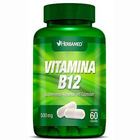 Vitamina B12 500mg (60Caps) - Herbamed