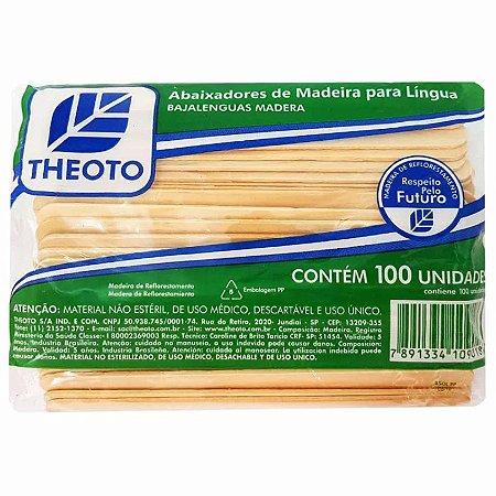 Abaixador de Língua Madeira (100UN) - Theoto