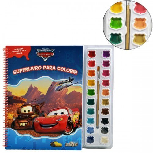 Aquarela Carros Disney - Superlivro