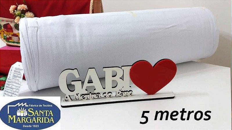 Tecido Alvejado PP 24 100% algodão - PÉ DE GALINHA - 5 metros