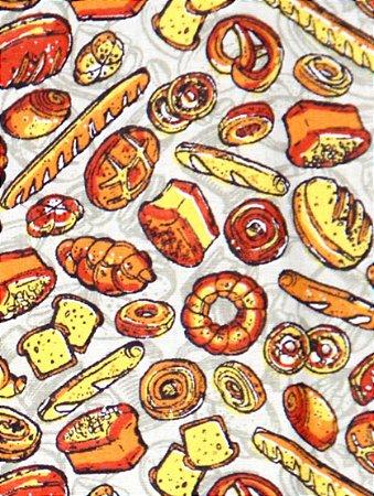Tecido Círculo Pãezinhos dourados 351997/1995 - 0,50cmx1,46 Mts