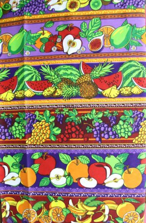Tecido Círculo Barrado frutas abertas Cor 2071- 0,50cmx1,46 Mts