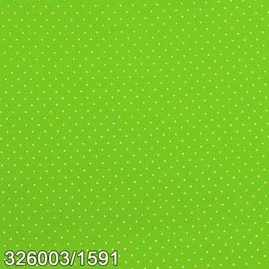 Tecido Círculo Poá Verde Claro bolinhas brancas 1591 - 0,50cmx1,50 Mts
