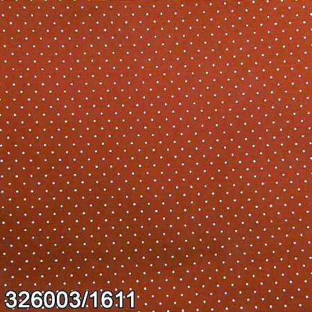 Tecido Círculo Poá Telha e branco [Marsala] - 1585 - 0,50cmx1,46 Mts