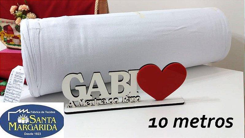 10Mts-Tecido Alvejado Sta. Margarida PP 24 100% algodão- PÉ DE GALINHA - 10 metros