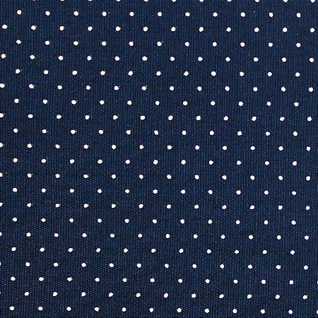 Tricoline 100% algodão Poá - MARINHO - 1593 - 0,50cmx146cm