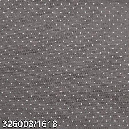 Tecido Círculo Poá ELEFANTE- Bolinhas brancas - 1618 - 0,50cmx1,50 Mts