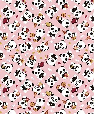 Tecido Círculo PANDAS HAPPY - 2078 - 0,50cmx1,46 Mts