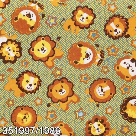 Tecido Círculo LEÃOZINHO - 1986 - 0,50cmx1,46 Mts