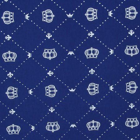 Tecido Círculo COROAS azuis - 2224 - 0,50cmx1,46 Mts