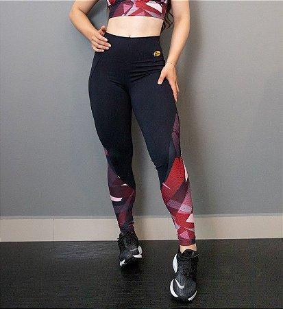 Legging Emana Com Estampa- Preta Malibu 8429