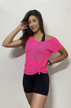 Blusa Tela - Pink 8247