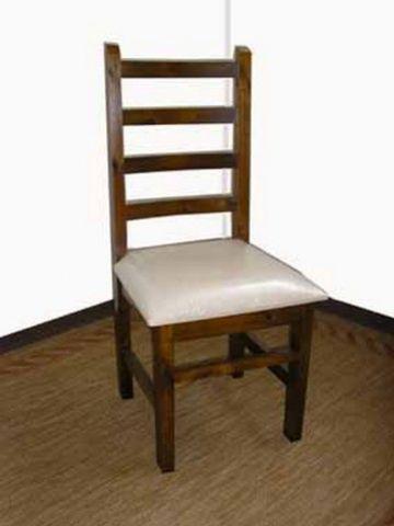 Cadeira Estofada Madeira Maciça