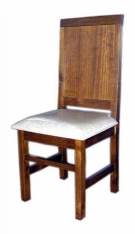Cadeira Assento Estofado Madeira Maciça