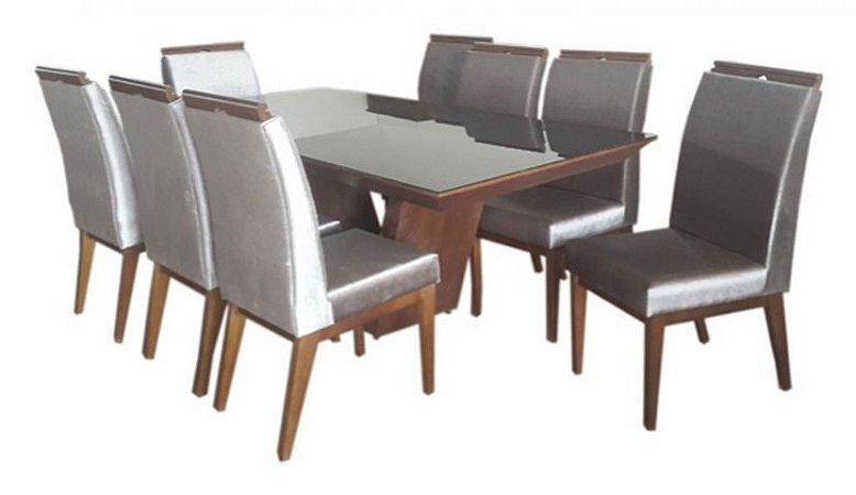Mesa 2,20 c/ 8 Cadeiras Estofadas