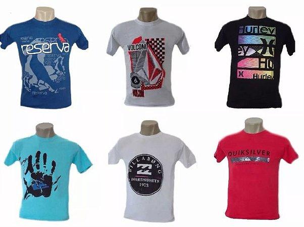 Kit Com 15 Camisetas Camisas De Marca Atacado para Revenda