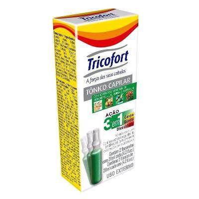 Tricofort Tônico Capilar Ação 3 Em 1 - Kit Com 12 Caixinhas