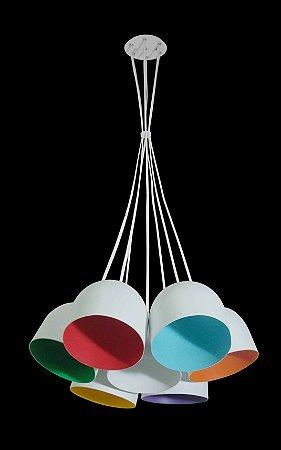 Pendente Paris 7 Colors Design Sofisticado