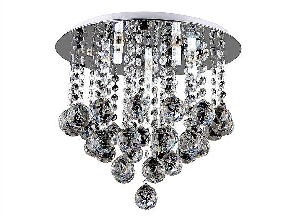Lustre de Cristal legitimo 5 lâmpadas