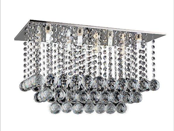 Lustre de Cristal legitimo 8 lâmpadas