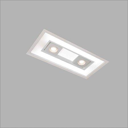Embutido Focus 32 X 1,26mt Com Difusor em Acrílico Aproveite