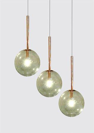 Pendente Ball 1 Globos 27 cm Design Sofisticado Aproveite