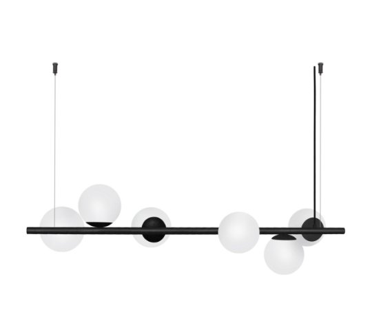 Pendente Century 6 Globos de Vidro Design Diferenciado