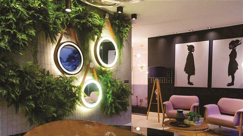 Espelho Decorativo com cinta de couro Linha Spechio 60cm (Para fita de led)